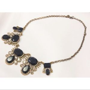 J Crew statement necklace with large stones